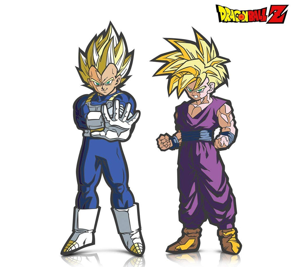 Warp Gadgets Bundle - FigPin - Dragon Ball Z: Super Saiyan Gohan and Super Saiyan Vegeta (2 Items)