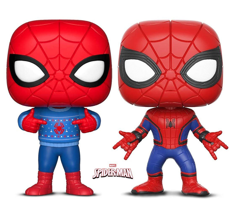 Warp Gadgets Bundle - Funko Pop! Marvel: Holiday Spider-Man with Ugly Sweater & Marvel: Homecoming Spider-Man (2 Items)