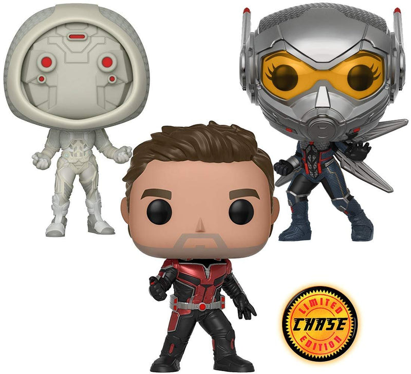 Warp Gadgets Bundle - Funko Pop Marvel: Ant-Man & The Wasp - Ant-Man Chase, The Wasp And Ghost Collectible Vinyl Figures (3 Items)