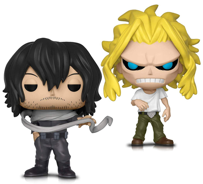 Warp Gadgets Bundle - Funko Pop! Animation: My Hero Academia - All Might (weakened) and Shota Aizawa - Vinyl Figures (2 Items)