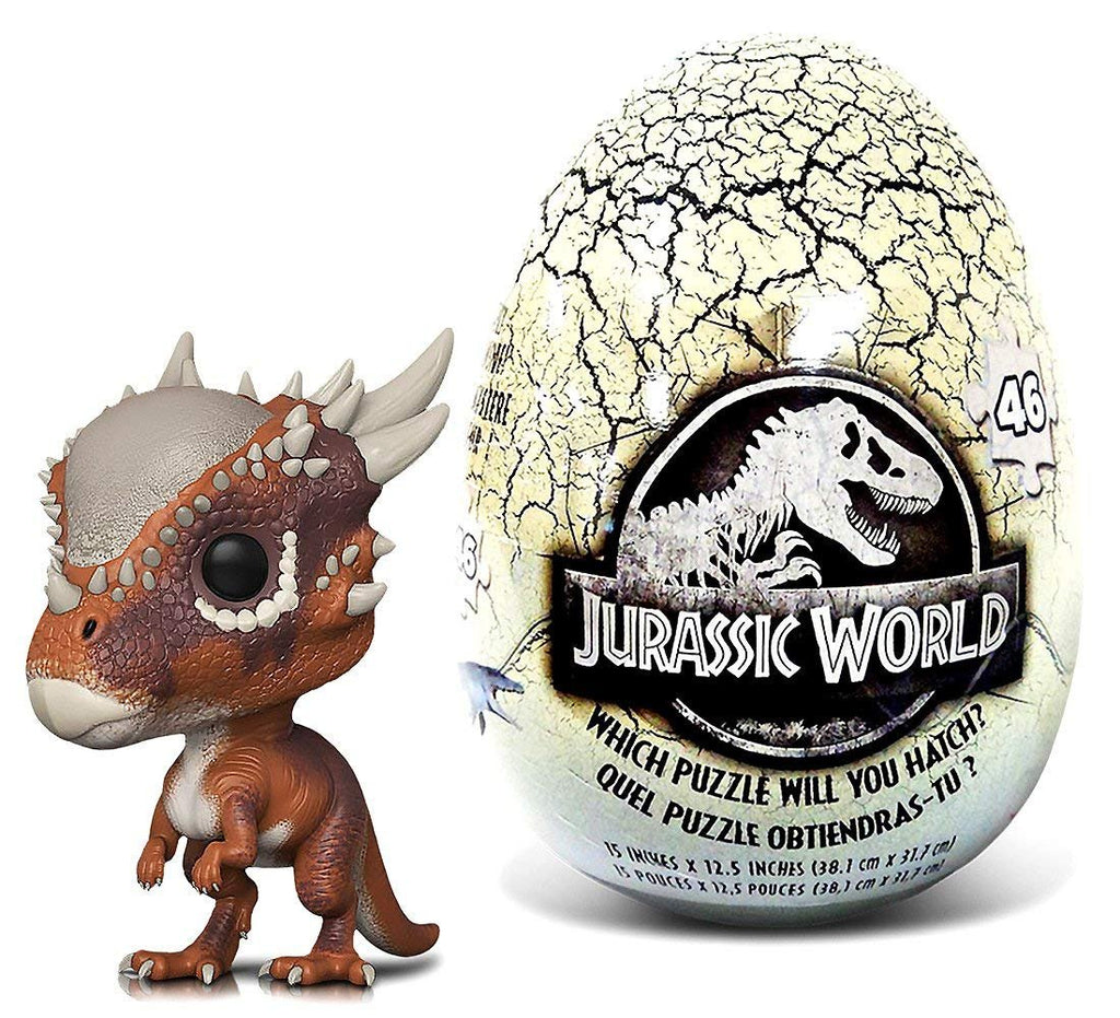 Warp Gadgets Bundle - Funko POP Movies Jurassic World 2 Stygimoloch and Jurassic World 46 piece Mystery Egg Puzzle (2 Items)