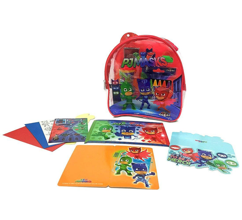 Warp Gadgets Bundle - Pj Masks Red Activity Backpack & 2 Puzzles 48 Pcs (3 Items)
