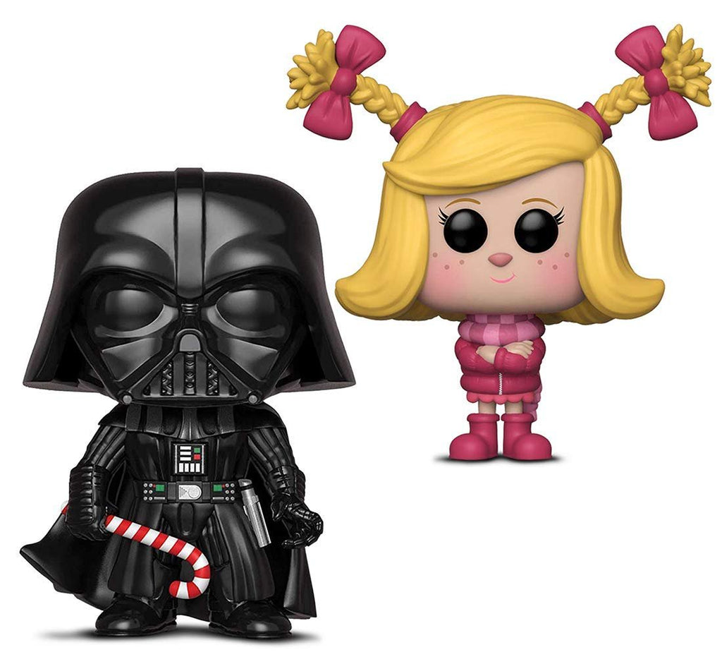 Warp Gadgets Bundle - Funko Pop! Star Wars: Holiday Darth Vader with Candy Cane & Funko Pop Animation: The Grinch Movie Cindy Lou (2 Items)