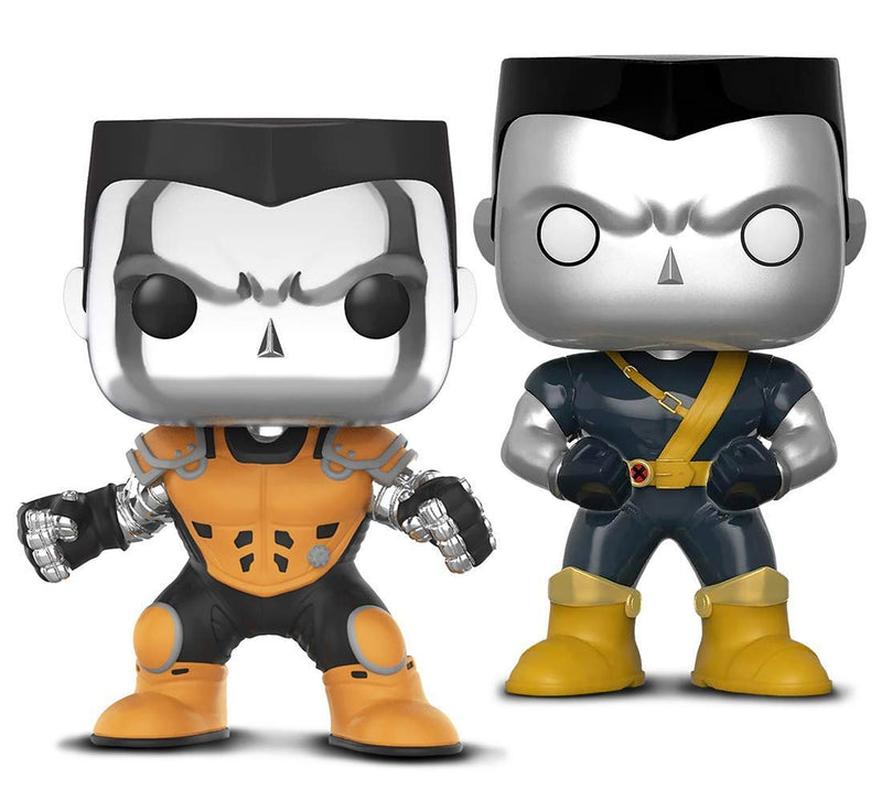 Warp Gadgets Bundle - Funko Pop! X-Men Colossus [Chrome] L.A. Comic Con Exclusive & Marvel Deadpool Parody Colossus (2 Items)