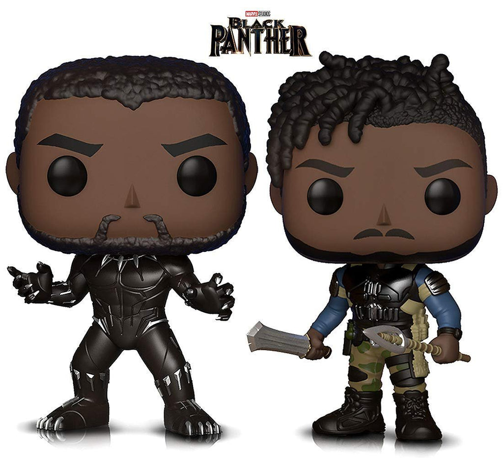 Warp Gadgets Bundle - Marvel Black Panther and Killmonger Vinyl Figures (2 Items)