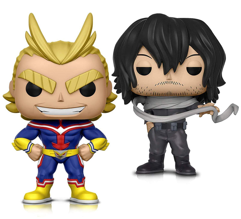 Warp Gadgets Bundle - Funko Pop! Animation: My Hero Academia - All Might and Shota Aizawa - Vinyl Figures (2 Items)