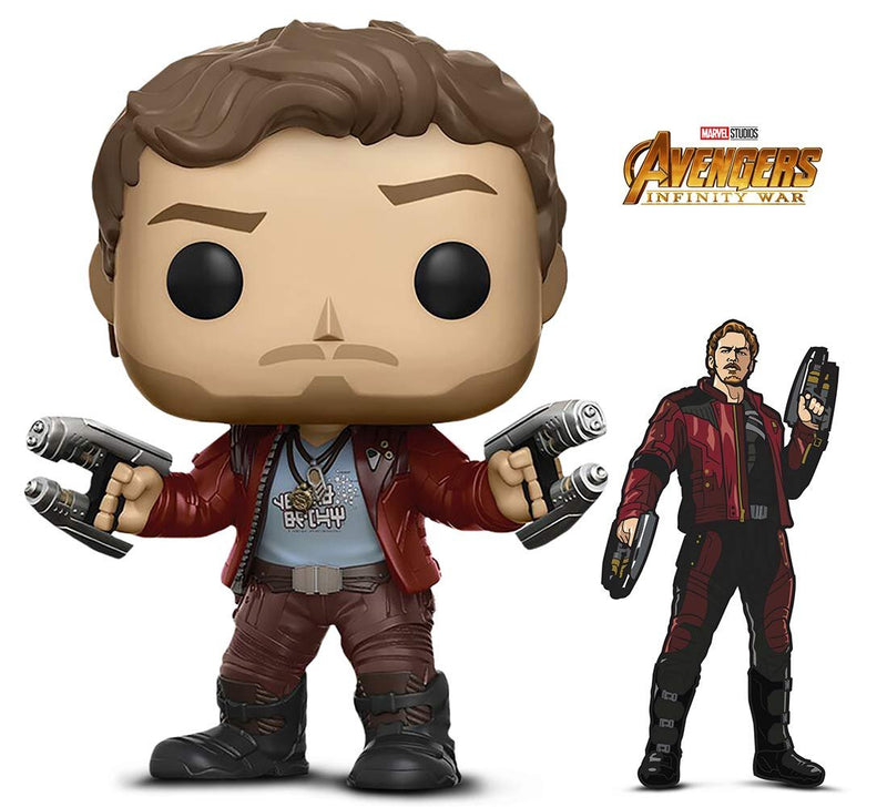 Warp Gadgets Bundle - Funko Pop! Marvel: Guardians of The Galaxy - Star Lord and Figpin - Avengers: Infinity War: Star-Lord - Collectible Enamel Pin (2 Items)