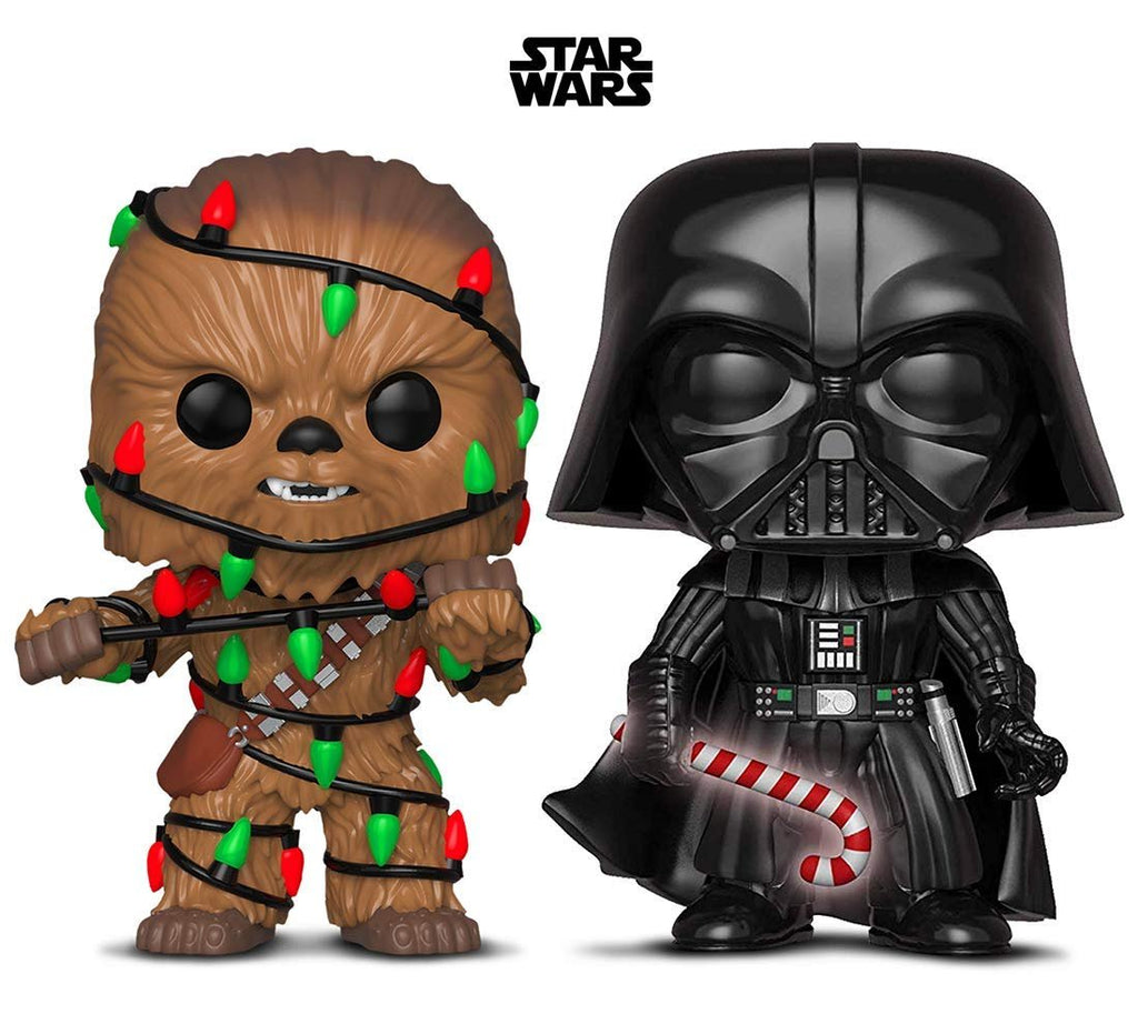 Warp Gadgets Bundle - Funko Pop! Star Wars: Holiday Darth Vader with Candy Cane and Darth Vader Chase with Glow Candy Cane (2 Items)