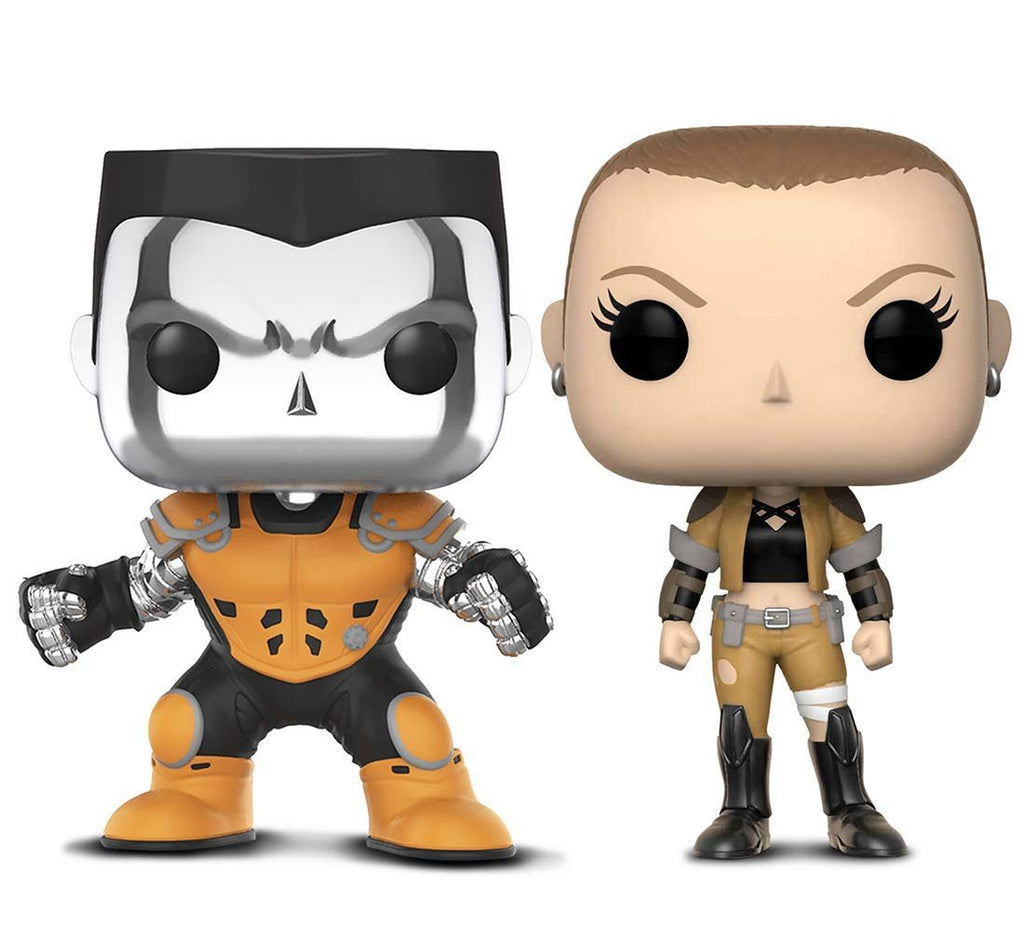 Warp Gadgets Bundle - Funko Pop! X-Men Colossus [Chrome] L.A. Comic Con Exclusive & Marvel Deadpool Parody Negasonic (2 Items)