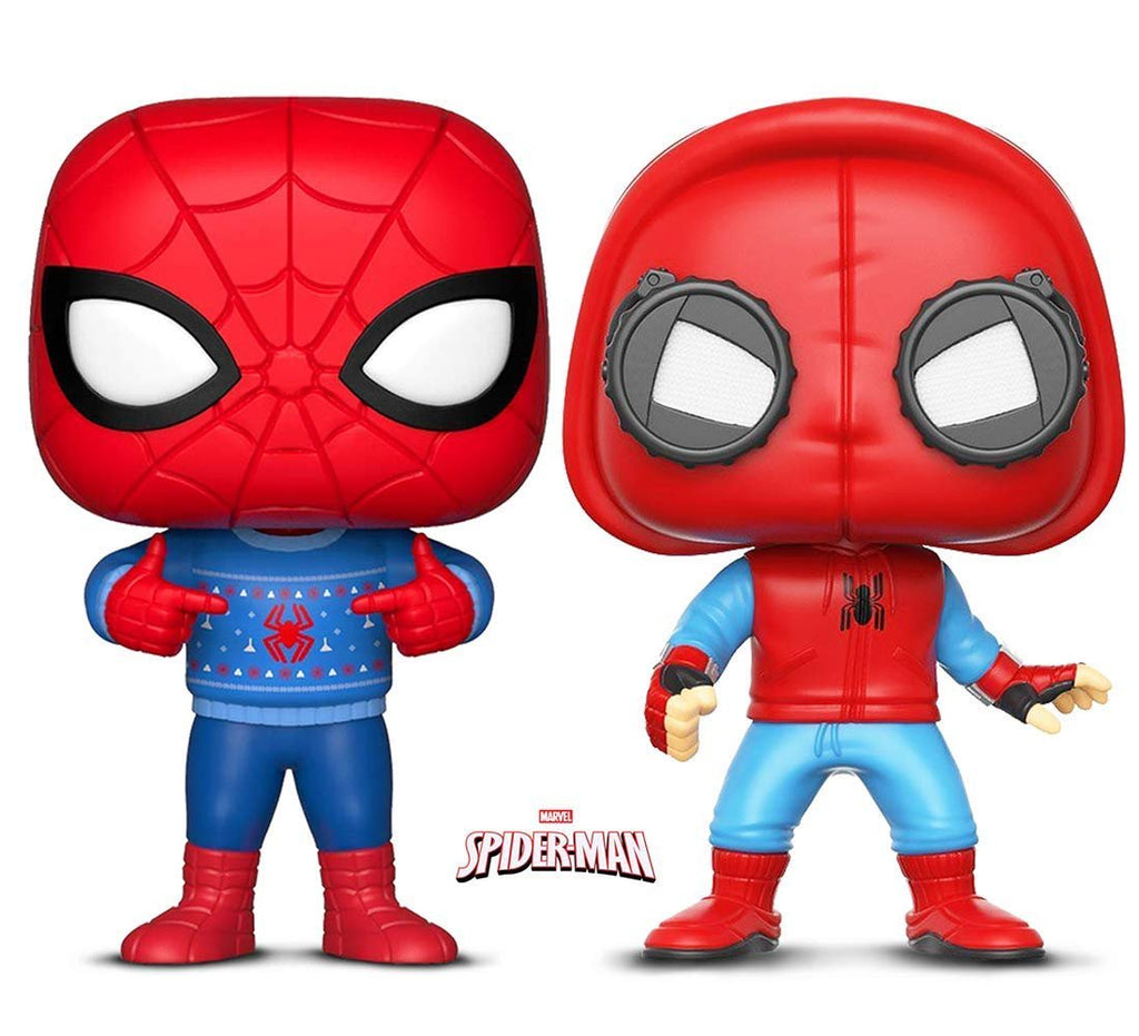 Warp Gadgets Bundle - Funko Pop! Marvel: Holiday Spider-Man with Ugly Sweater & Marvel: Spider-Man Proto Costume (2 Items)