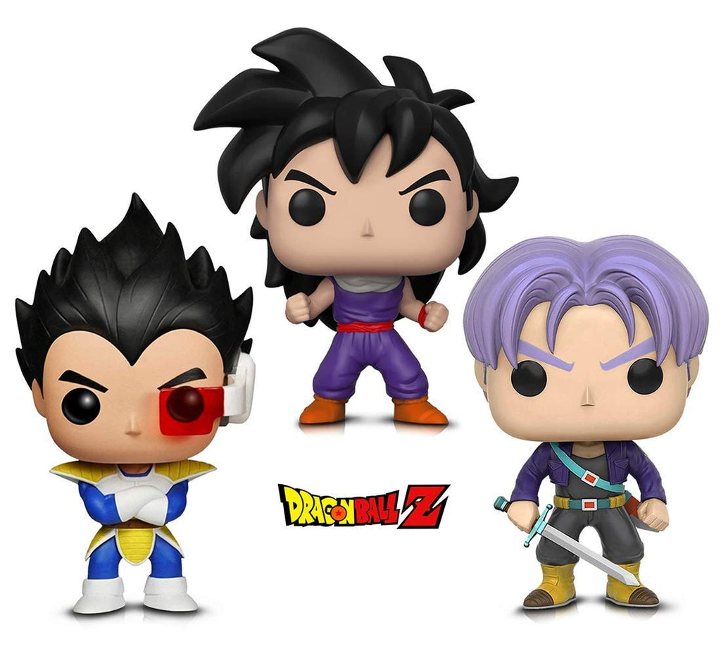 Warp Gadgets Bundle - Funko POP! Animation: Dragonball Z - Vegeta, Trunks & Gohan (Training Outfit) (3 Items)