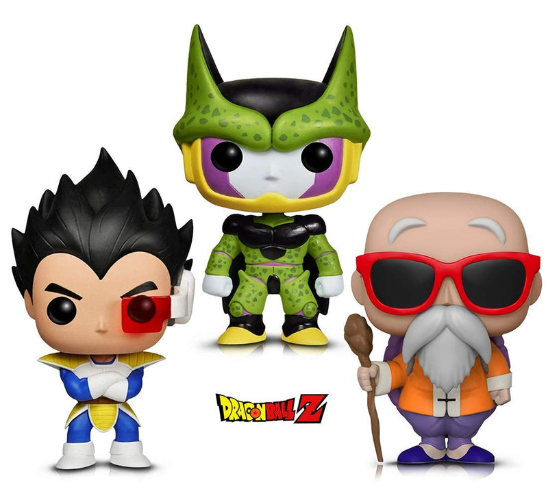 Warp Gadgets Bundle - Funko Pop! Animation: Dragonball Z - Perfect Cell, Vegeta & Master Roshi W/ Staff (3 Items)