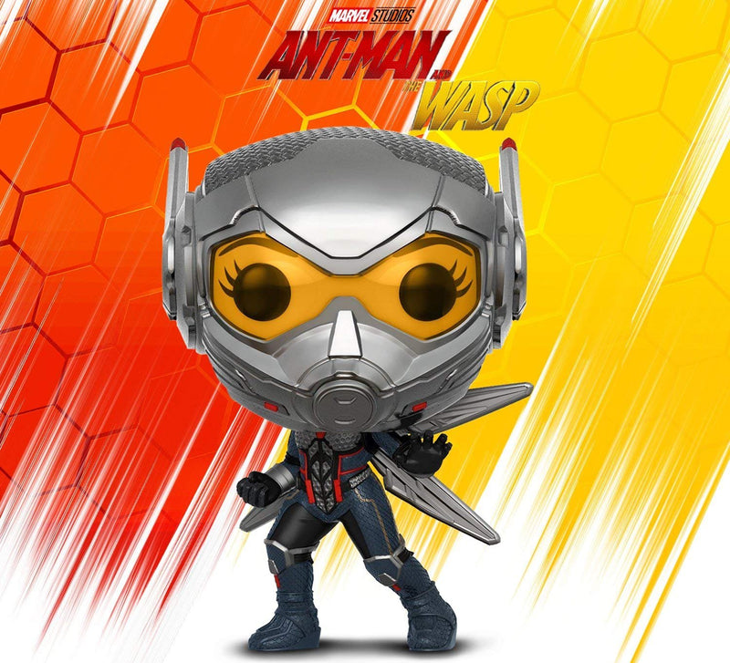 Warp Gadgets Bundle - Funko Pop Marvel: Ant-man & the Wasp: Wasp, Ghost, Pocket Pop Keychain Ant-man, and BONUS Lanyard with Metal Clip (4 Items)