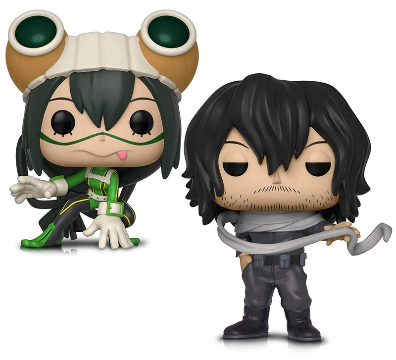 Warp Gadgets Bundle - Funko Pop! Animation: My Hero Academia - Tsuyu Asui and Shota Aizawa - Vinyl Figures (2 Items)