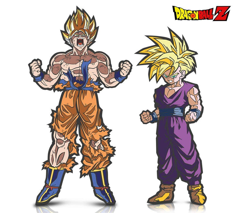 Warp Gadgets Bundle - FigPin - Dragon Ball Z: Super Saiyan Gohan and Super Saiyan Goku (2 Items)