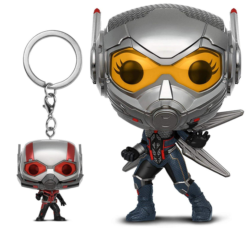 Warp Gadgets Bundle - Funko Pop Marvel: Ant-man & the Wasp: The Wasp and Pocket Pop Keychain Ant-man (2 Items)
