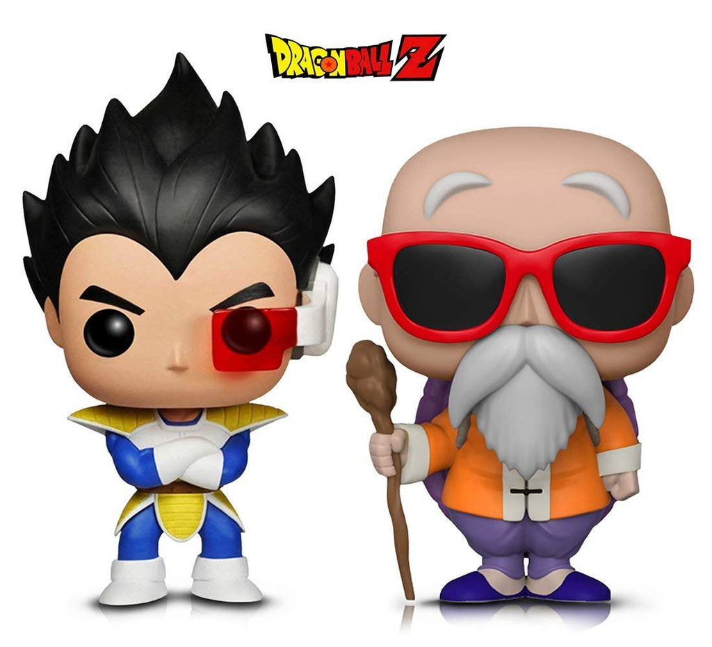 Warp Gadgets Bundle - Funko Pop! Animation: Dragonball Z - Vegeta & Master Roshi W/ Staff (2 Items)