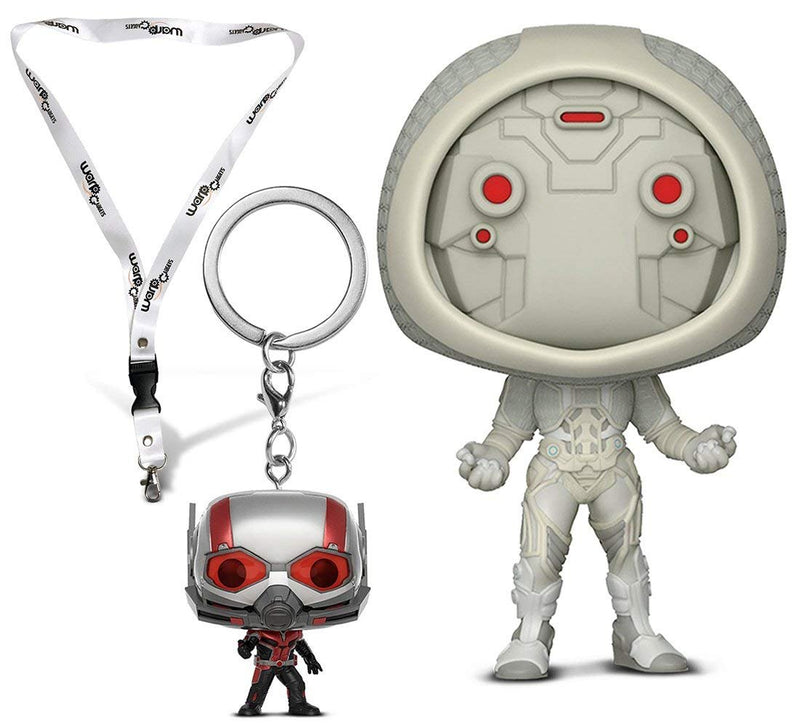 Warp Gadgets Bundle - Funko Pop Marvel: Ant-man & the Wasp: Ghost, Pocket Pop Keychain Ant-man, and BONUS Lanyard with Metal Clip (3 Items)