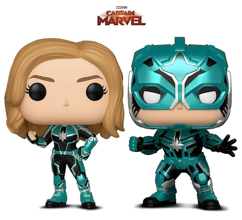Warp Gadgets Bundle - Funko Pop! Marvel: Captain Marvel - Vers and Star Commander (2 Items)