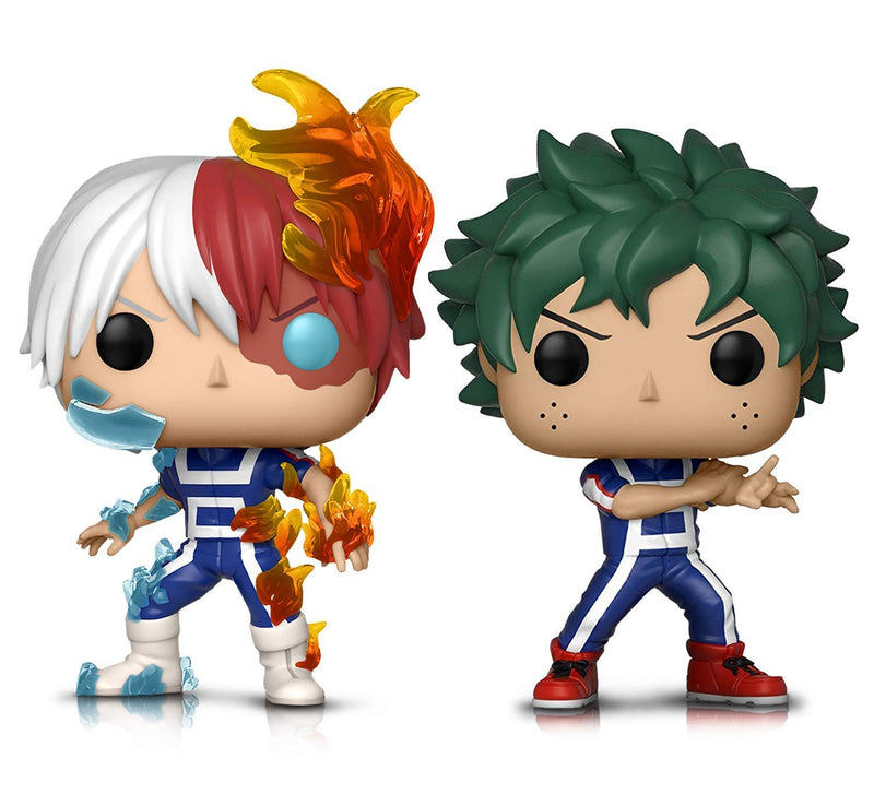 Warp Gadgets Bundle - Funko Pop! Animation: My Hero Academia -Todoroki and Deku (Training) - Vinyl Figures (2 Items)