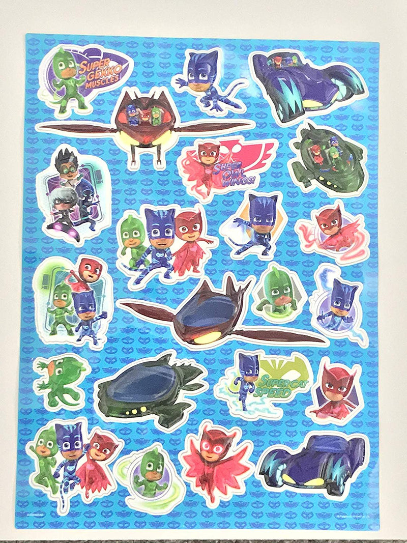Pj Masks Raised Sticker Sheet