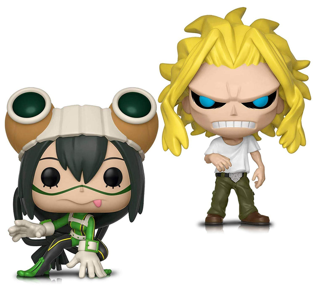 Warp Gadgets Bundle - Funko Pop! Animation: My Hero Academia - All Might (weakened) and Tsuyu Asui - Vinyl Figures (2 Items)