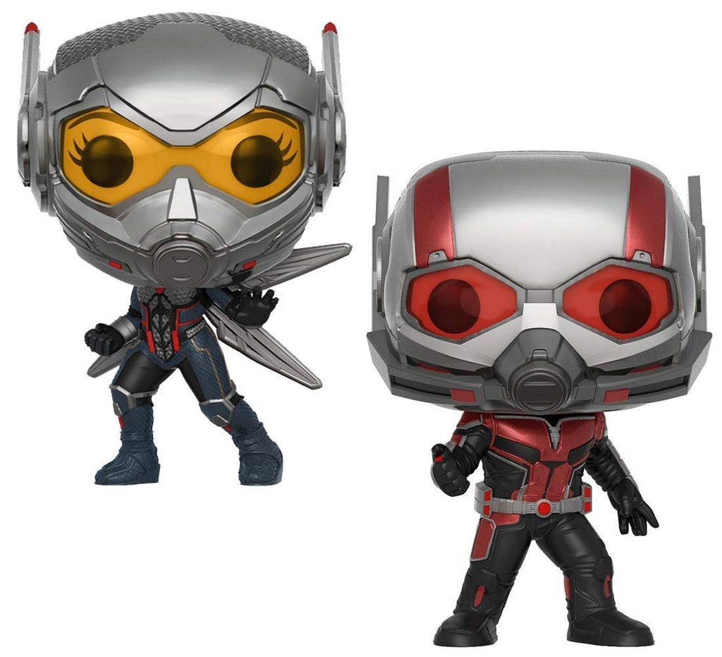 Warp Gadgets Bundle - Funko Pop Marvel: Ant-Man & The Wasp - Ant-Man Chase And The Wasp Collectible Vinyl Figures (2 Items)