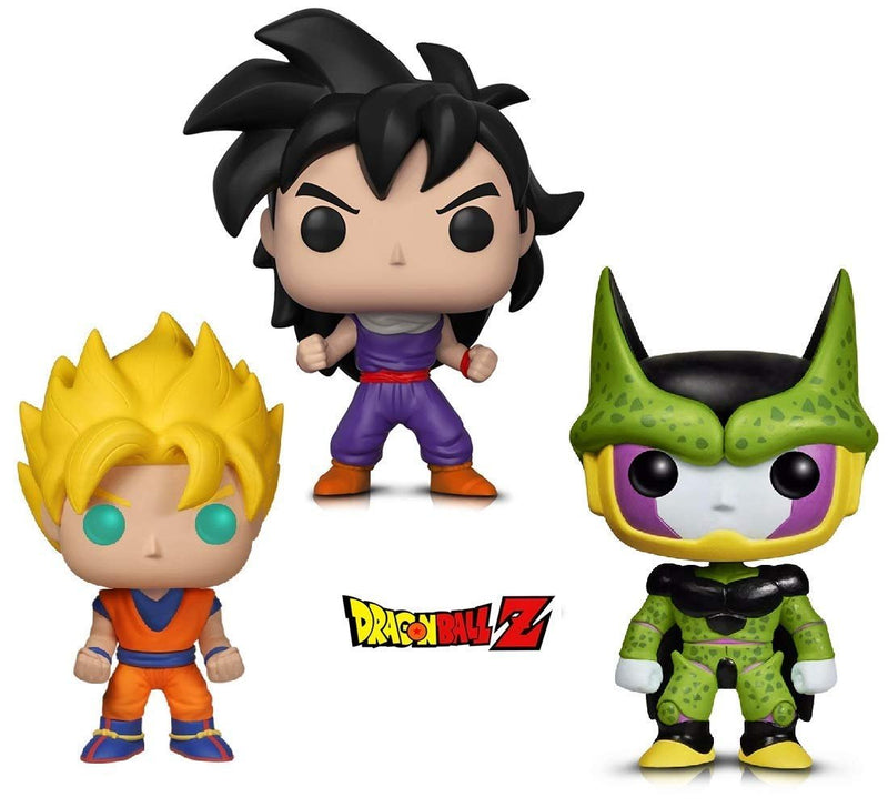 Warp Gadgets Bundle - Funko Pop! Animation: Dragonball Z - Perfect Cell, Super Saiyan Goku & Gohan (Training Outfit) (3 Items)