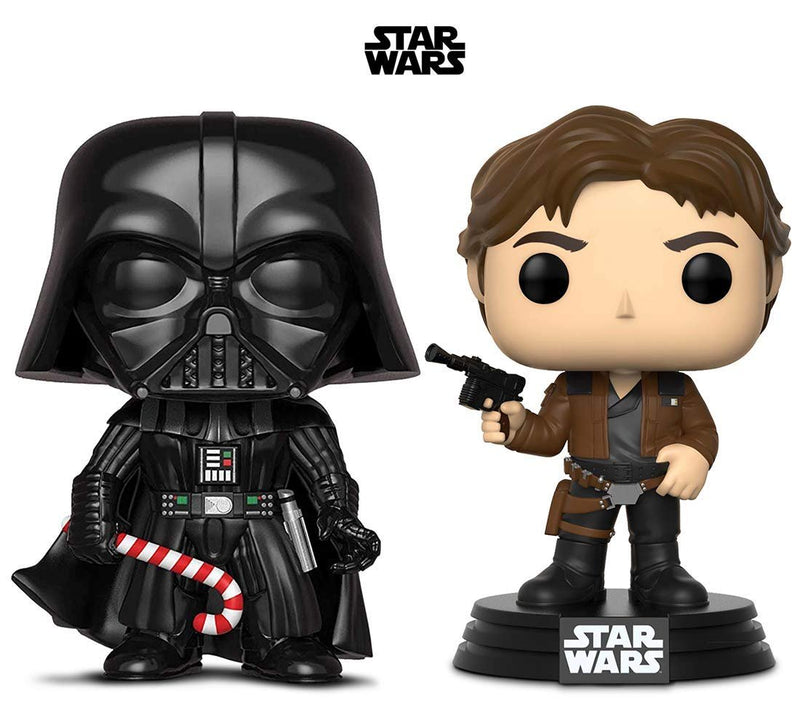Warp Gadgets Bundle - Funko Pop! Star Wars: Holiday Darth Vader with Candy Cane & Star Wars: Solo Han Solo (2 Items)