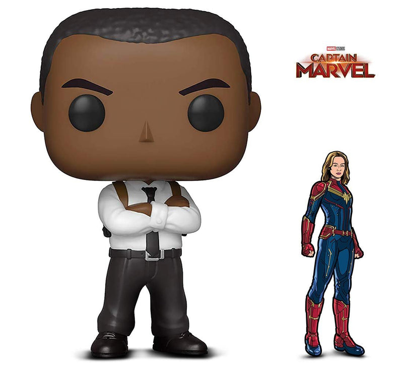 Warp Gadgets Bundle - Funko Pop! Marvel: Captain Marvel - Nick Fury and Figpin - Captain Marvel - Collectible Enamel Pin (2 Items)