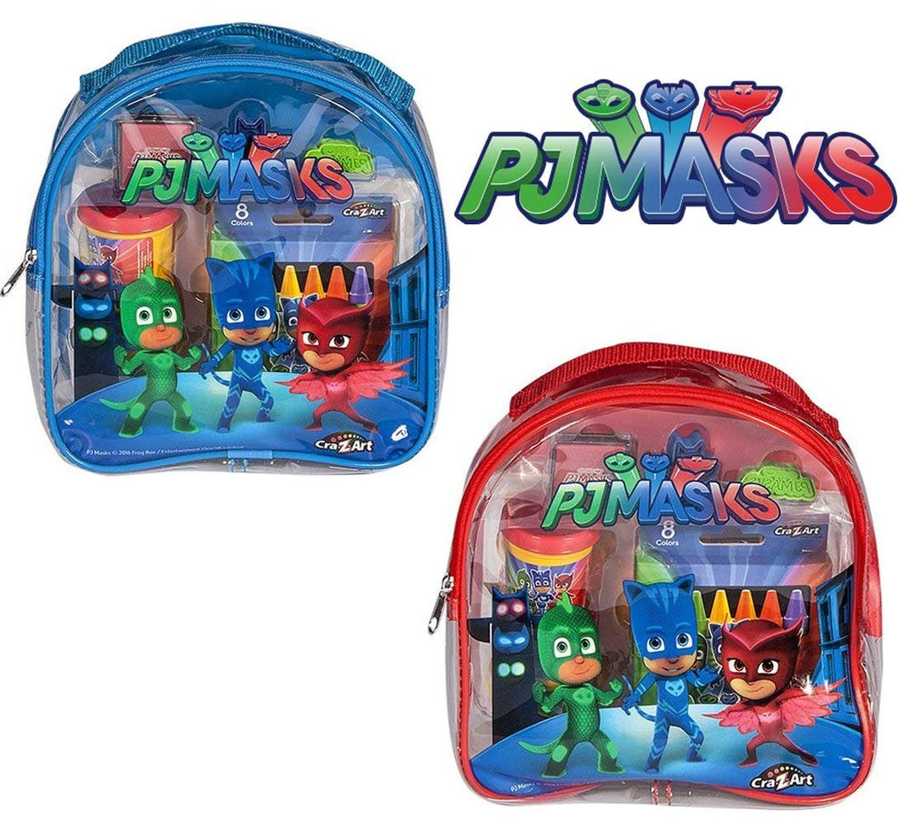 Warp Gadgets Bundle - 2 Cra-Z-Art Pj Masks Coloring and Activity Set Backpacks Red and Blue (2 Items)
