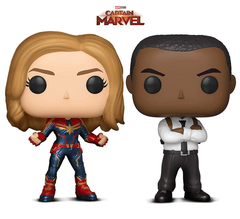Warp Gadgets Bundle - Funko Pop! Marvel: Captain Marvel and Nick Fury (2 Items)