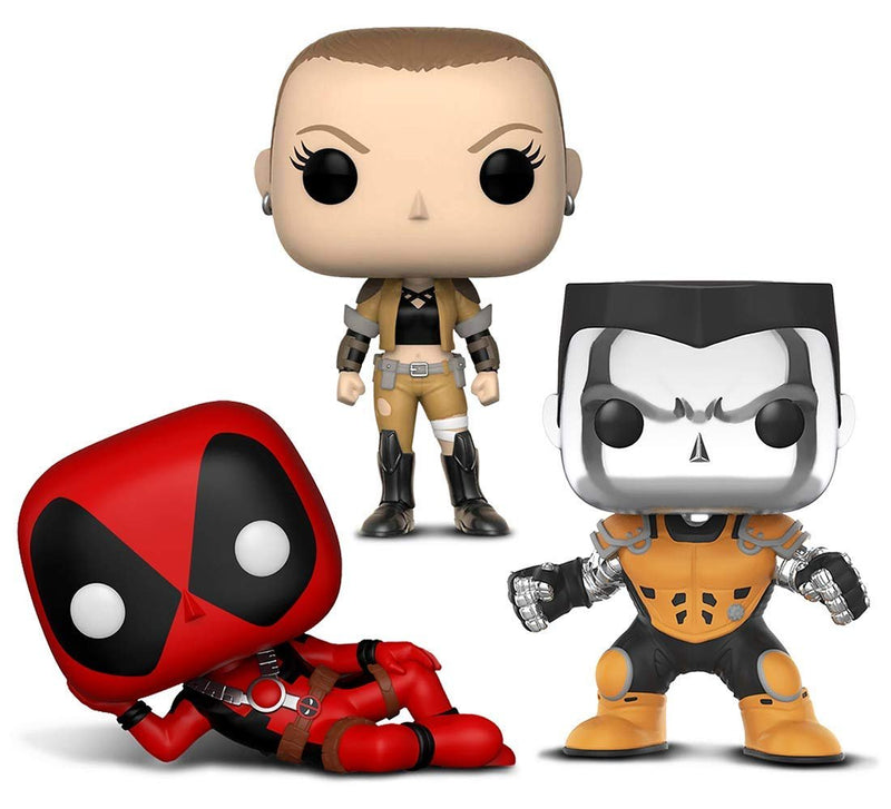 Warp Gadgets Bundle - Funko Pop! X-Men Colossus [Chrome] L.A. Comic Con Exclusive & Marvel's Deadpool and Negasonic (3 Items)