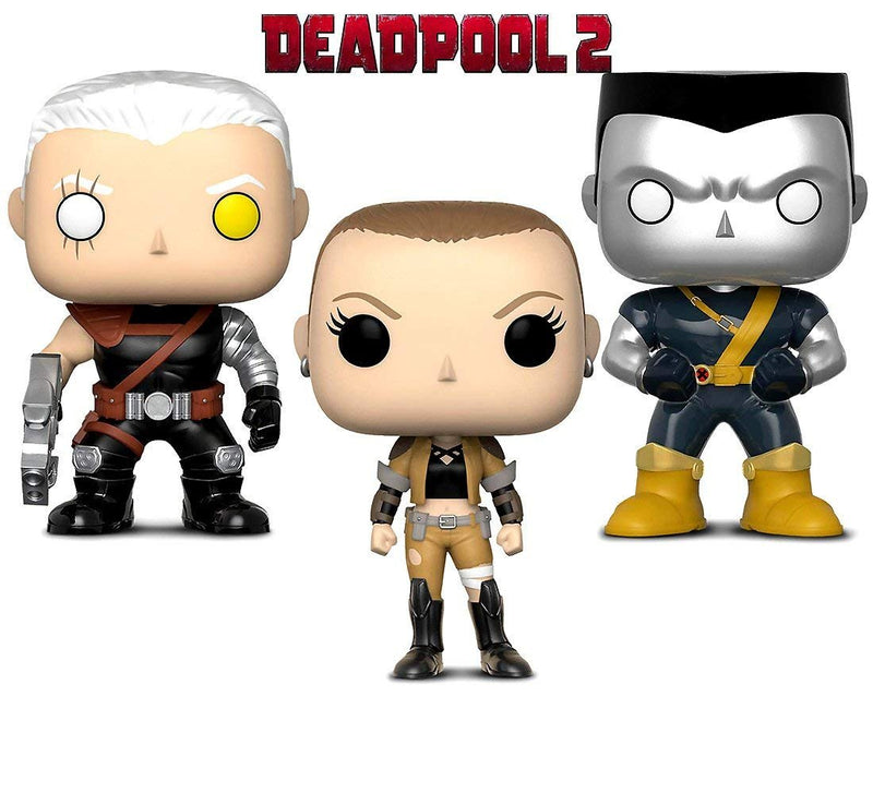 Warp Gadgets Bundle - Funko Pop! Marvel Deadpool Parody - Cable, Colossus & Negasonic Bobbleheads (3 Items)