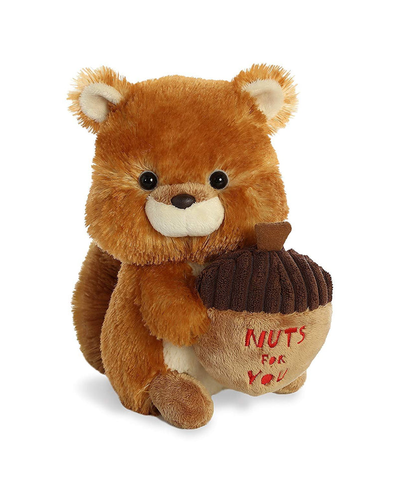 Aurora World Val Sayings Nuts for You Squirrel Plush Animal, Multicolor, 9""