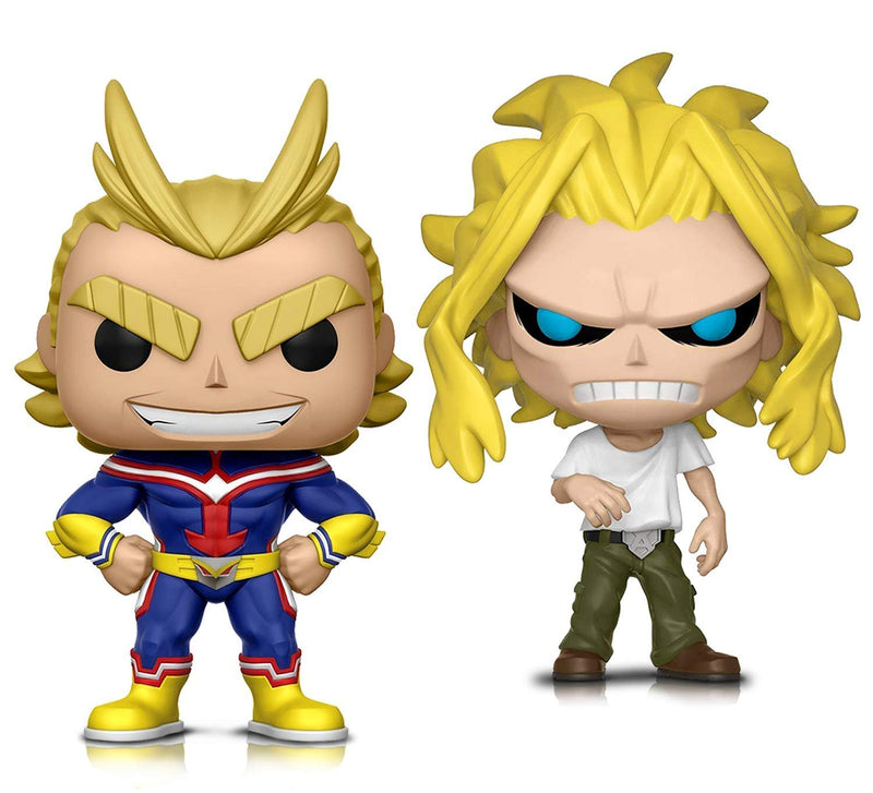 Warp Gadgets Bundle - Funko Pop! Animation: My Hero Academia - All Might and All Might (weakened) - Vinyl Figures (2 Items)