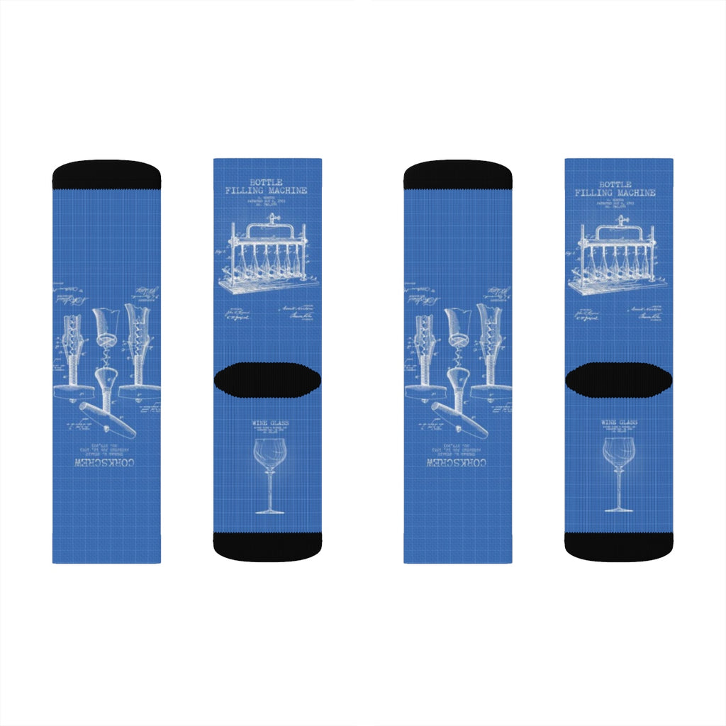 Wine US Patent Socks