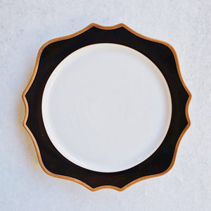 "Black & Gold Rimmed Charger (12.75"")"