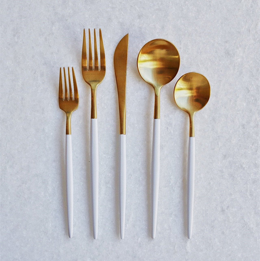 White & Gold Flatware