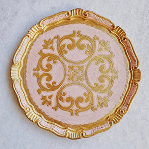 Florentine - Light Pink & Gold
