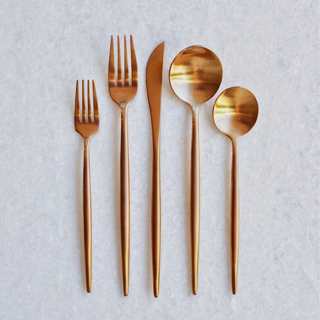 Rose Gold Flatware