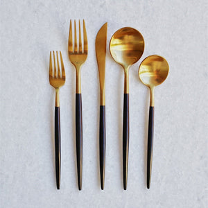 Black & Gold Flatware