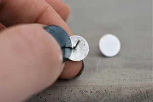 Frosted 5mm Disc Stud Earrings