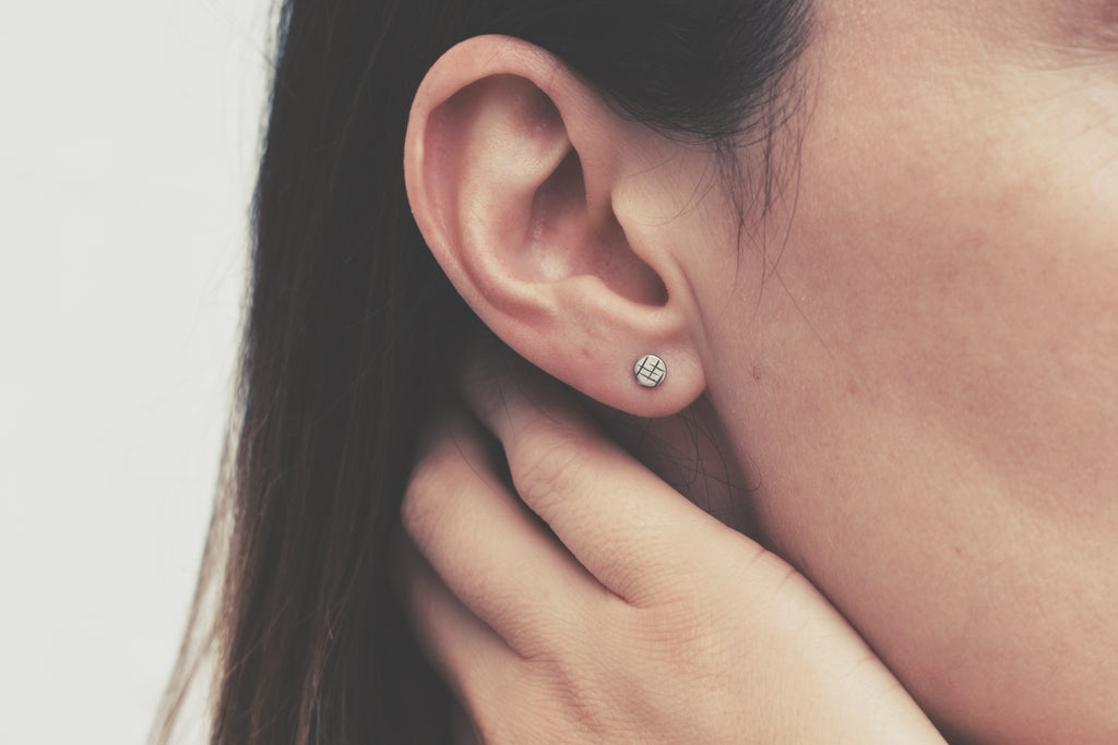 Micro A Maze In Stud Earrings