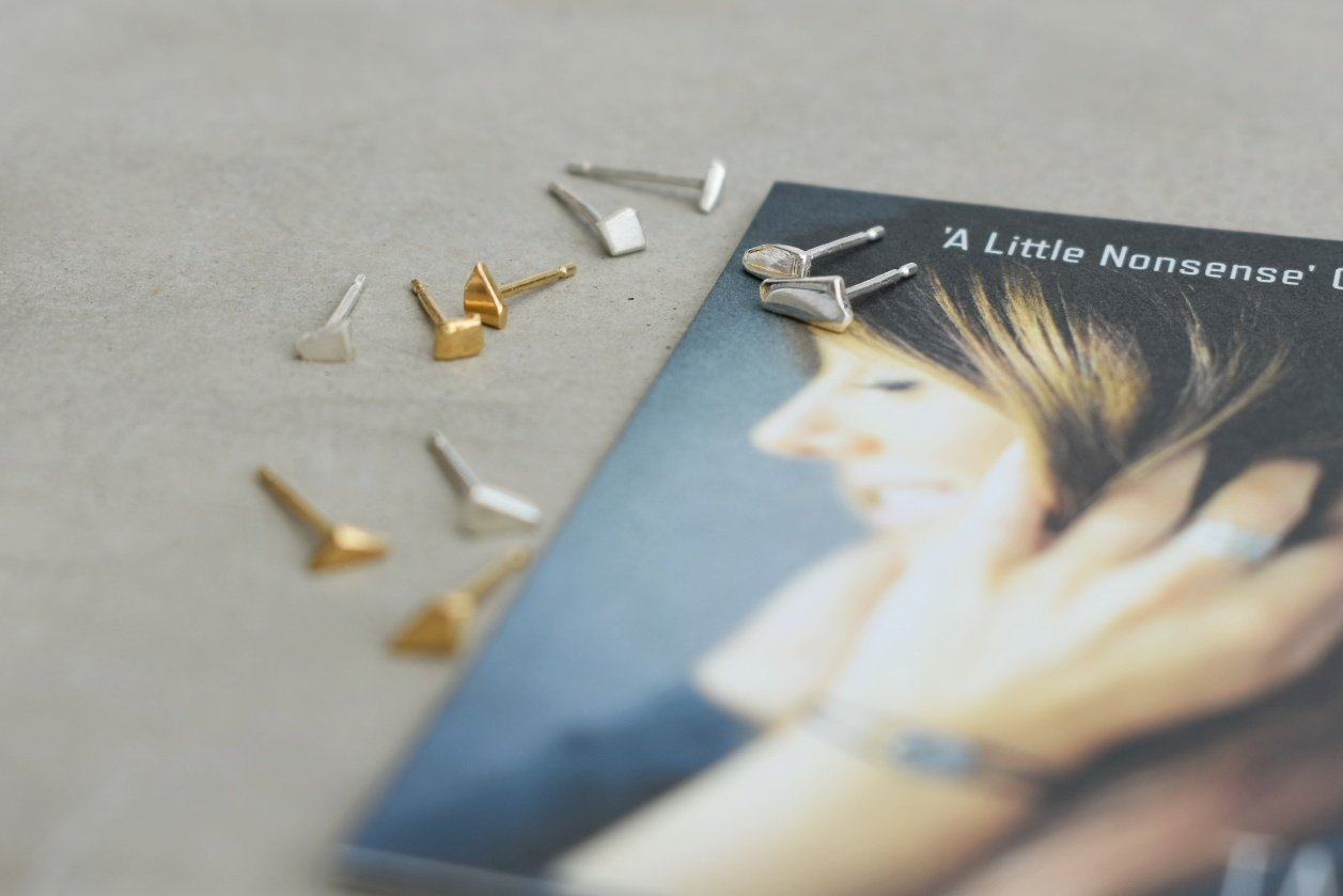 Gold Little Nonsense Studs
