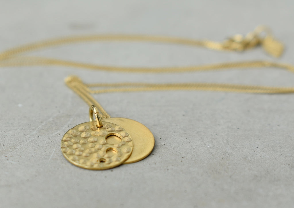 Mini Round n Rounder Gold Necklace