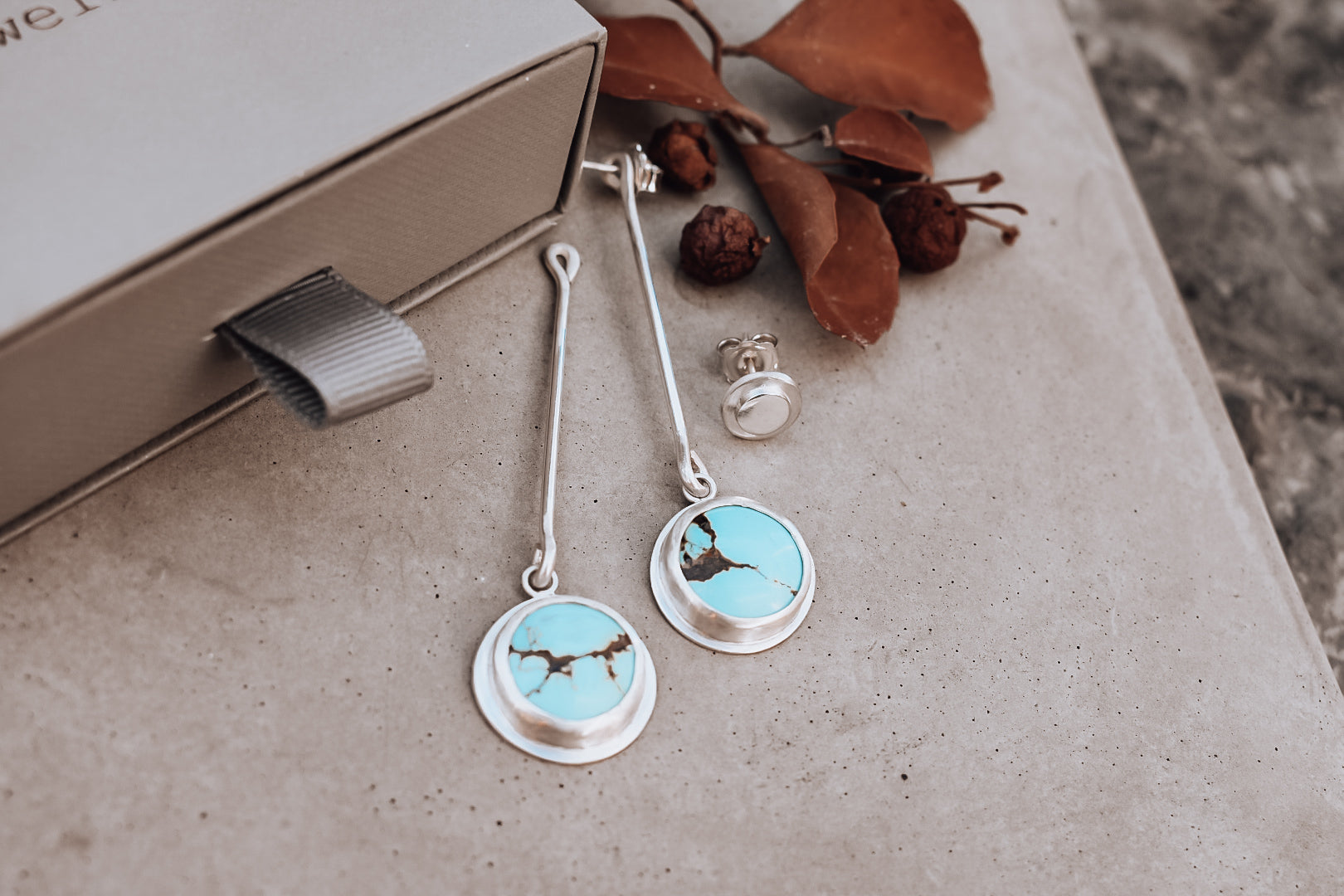 Yungai Turquoise Drop Jacket Earrings