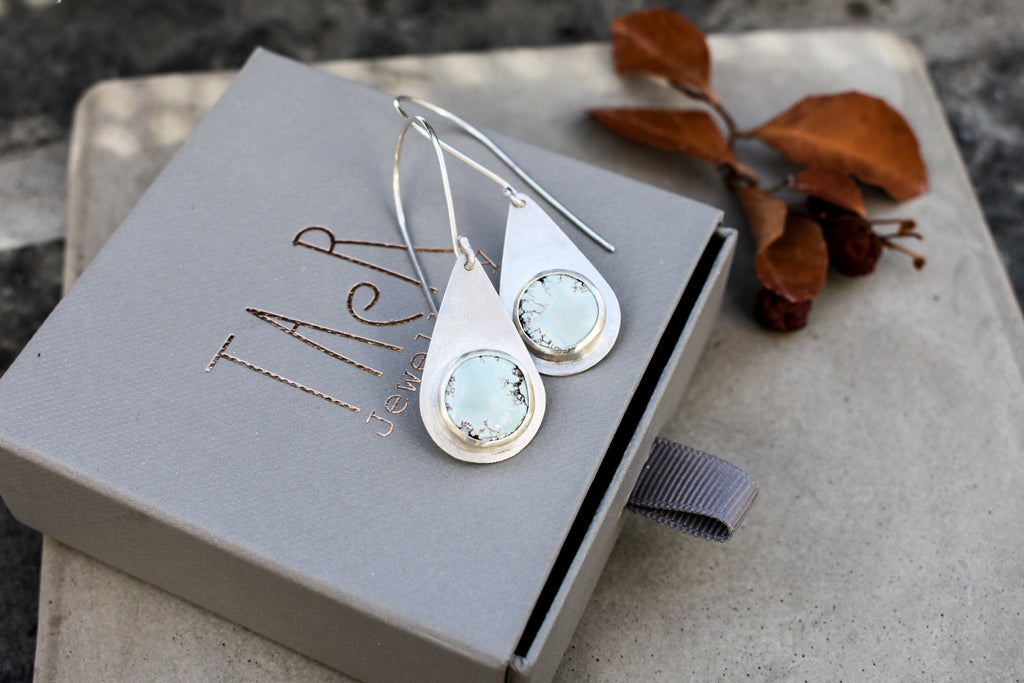 Sand Hill Turquoise Drop Earrings