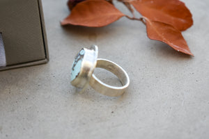 Sky Blue 'Sand Hill' Turquoise Disc Ring #1