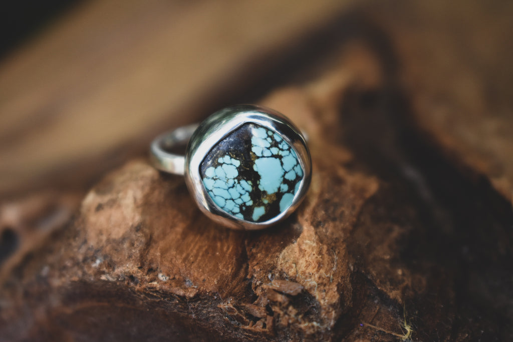 Sky Blue-green Yungai Turquoise ring #2